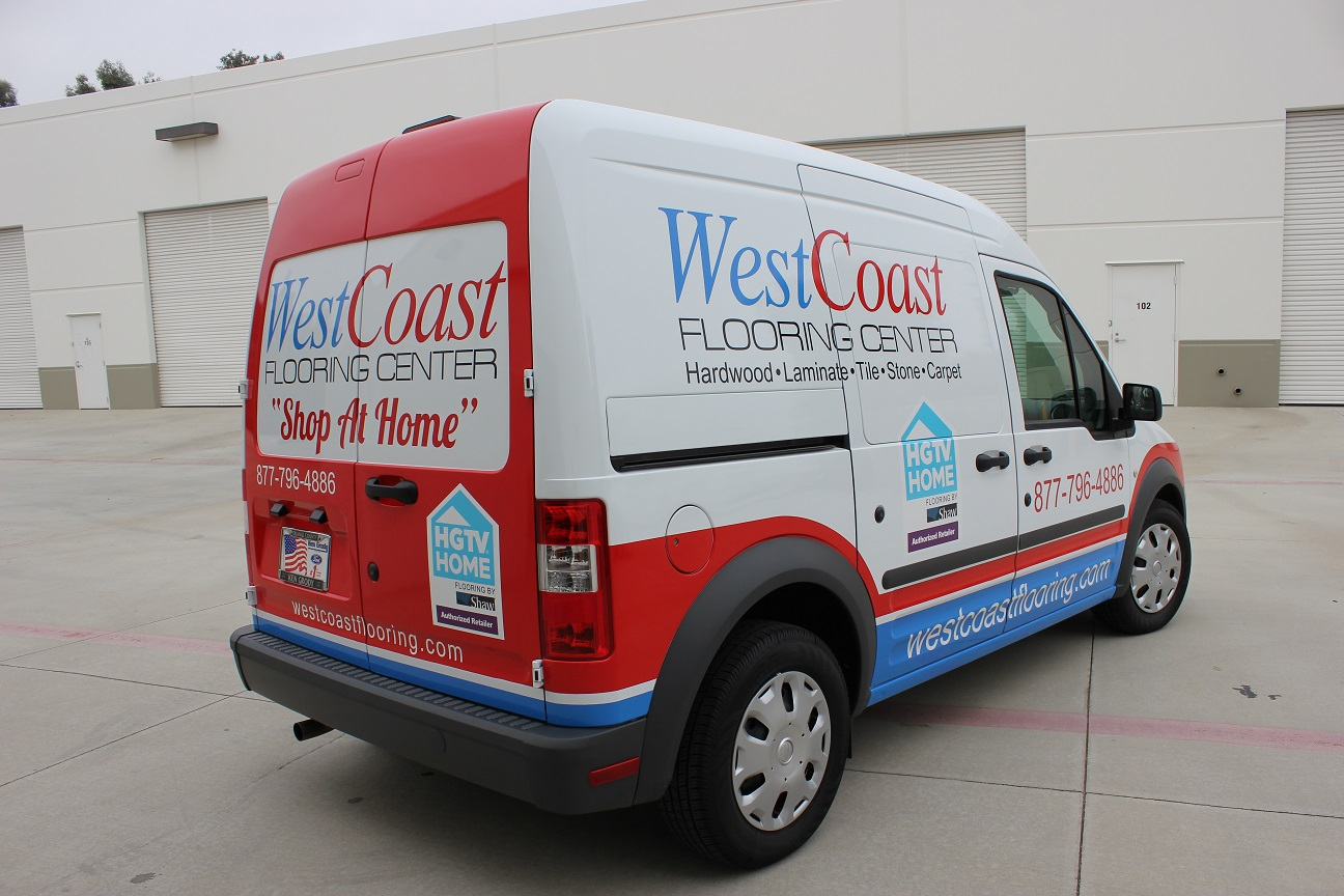 """Ken Grody Ford Carlsbad >> Vehicle Graphics on Ford Transit Connect for """"Shop at Home ..."""
