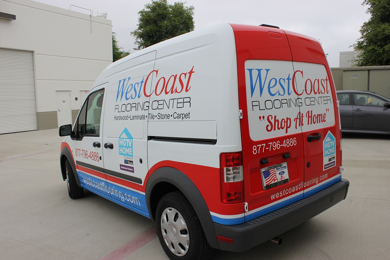 Vehicle Graphics On Ford Transit Connect For Quot Shop At Home