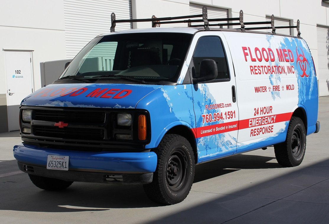 1998 Chevy Van Wrap for Flood Med