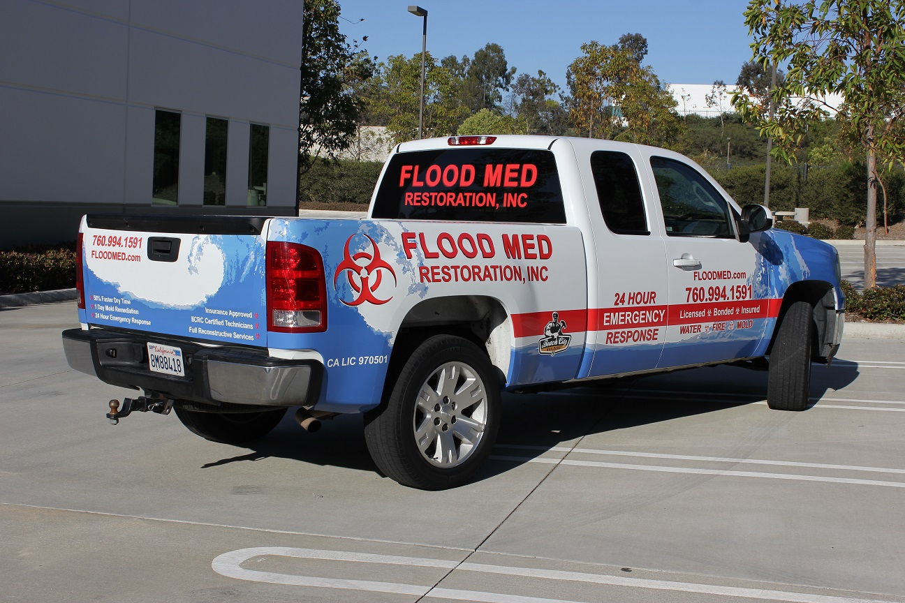Allstate Sign On >> Truck Wrap for Flood Med - Pick-Up Truck - Vehicle Fleet Wrap - North Coast Signs