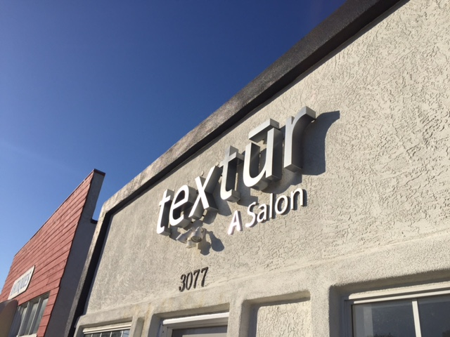 Channel letters for Textur Salon